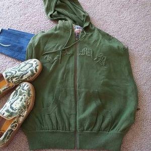 L.A.M.B. cashmere cocoon vest hoodie